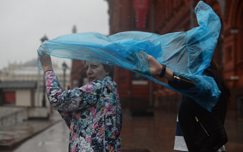 Güclü fırtına Moskvaya doğru hərəkət edir