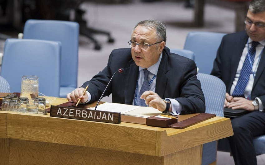 Azerbaijani Permanent Representative: Armenia is trying to blur the importance of UN Security Council resolutions on Karabakh