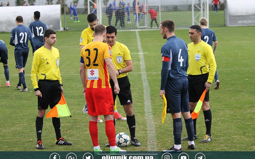 Incident takes place in match led by Azerbaijani referees in Antalya
