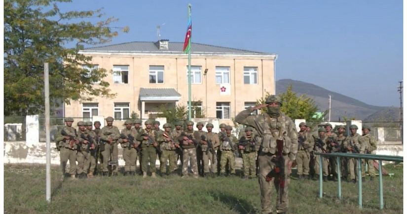 В Зангилане водружен флаг Азербайджана