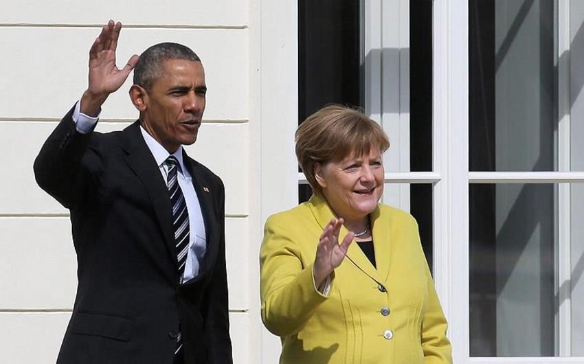 Barak Obama və Angela Merkel İraq və Ukrayna məsələlərini müzakirə ediblər