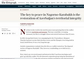 """""""The Telegraph"""": Azərbaycanın ərazi bütövlüyü bərpa edilməlidir"""