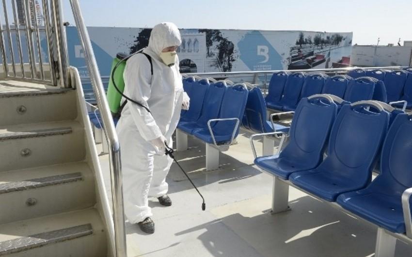 Mirvari gəzinti gəmisində dezinfeksiya işləri aparılıb