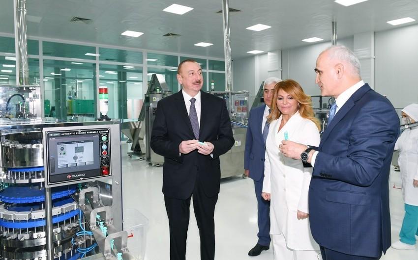 Prezident İlham Əliyev Pirallahı Sənaye Parkında şpris istehsalı zavodunun açılışında iştirak edib - ƏLAVƏ OLUNUB