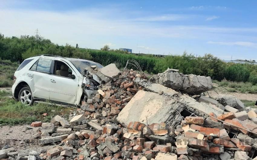 Samuxda həkim sükan arxasında infarkt keçirdi, avtomobilini hasara vurdu