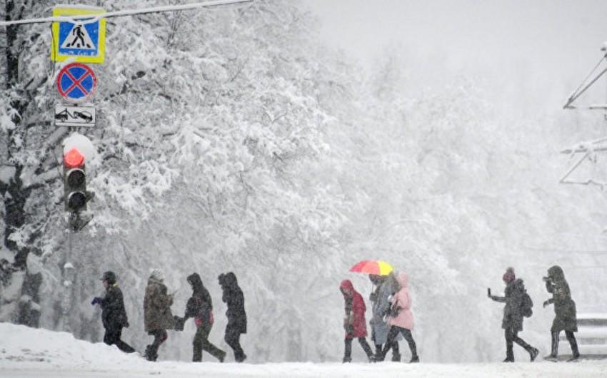 Moskvada qar yağışı yüzillik rekord müəyyənləşdirib