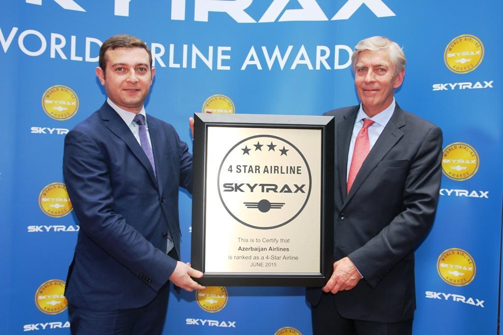 АЗАЛ удостоен престижного рейтинга Skytrax 4 звезды