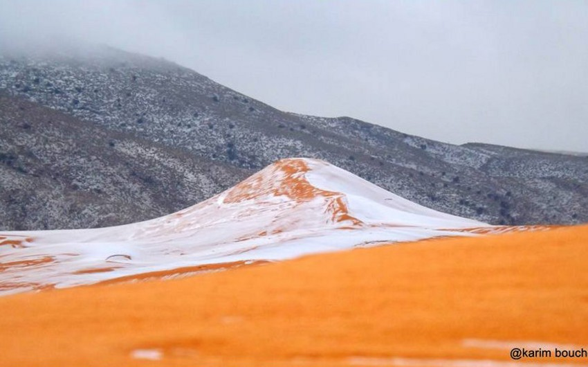 Afrikanın Saxara səhrasına ikinci il ardarda qar yağıb - FOTO