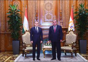 Глава МИД Азербайджана встретился с президентом Таджикистана
