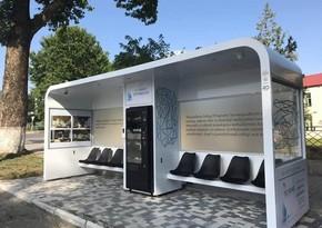 Azerbaijan presents its first smart bus shelter