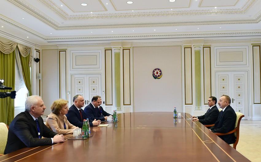 Azərbaycan Prezidenti İlham Əliyevin Moldovanın Prezidenti İqor Dodon ilə görüşü olub - YENİLƏNİB