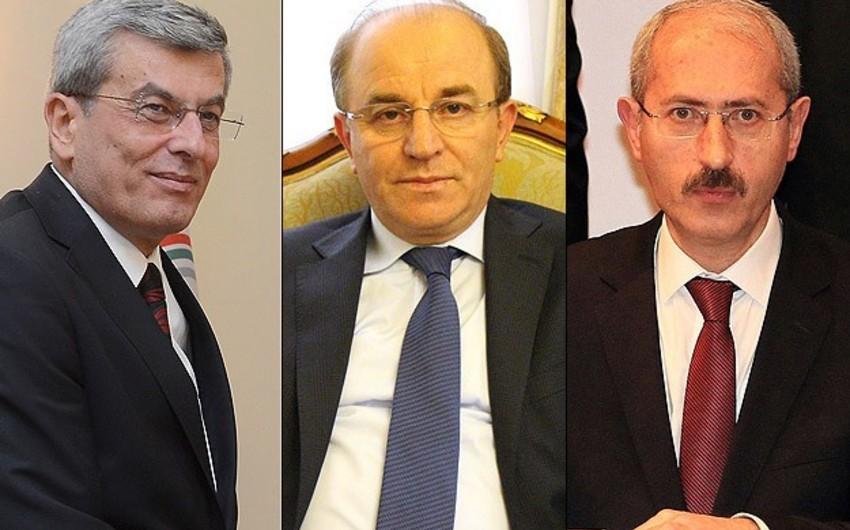 Türkiyə hökumətində üç yeni nazir təyinatı olub