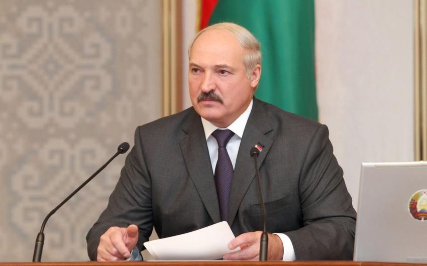 Aleksandr Lukaşenko Rusiyanın yüksək vəzifəli məmuruna cinayət işinin açılması haqqında göstəriş verib