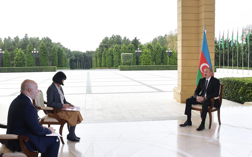 President Ilham Aliyev gives interview to Japan's Nikkei newspaper