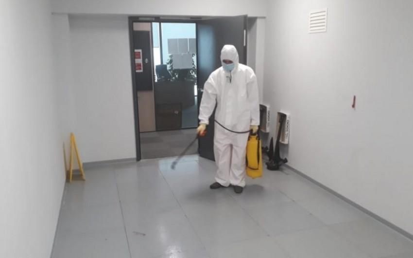 ASCO-nun baş ofisində dezinfeksiya işləri aparılıb