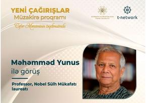 Nobel Sülh mükafatı laureatı azərbaycanlılarla müzakirə aparacaq
