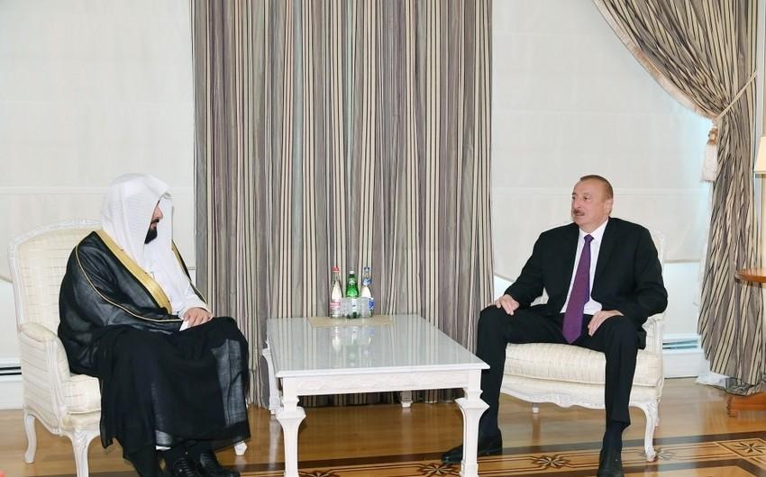 President Ilham Aliyev receives Saudi Arabian Justice Minister