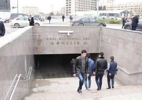 Metronun Gənclik stansiyası bu gün gücləndirilmiş rejimdə işləyəcək