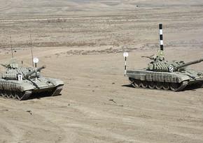 Əlahiddə Ümumqoşun Ordunun tank birləşmələrində məşğələlər keçirilir