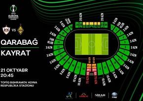 Qarabağ - Kayrat oyununun biletləri satışa çıxarılıb