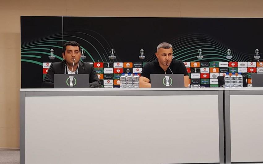 Qarabağ - Bazel oyunundan sonra mətbuat konfransında yeni pivə olayı yaşanıb