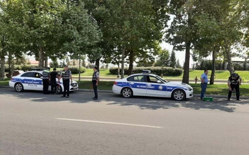 Şəmkir yol polisi Təmiz hava aylığı ilə bağlı reyd keçirib
