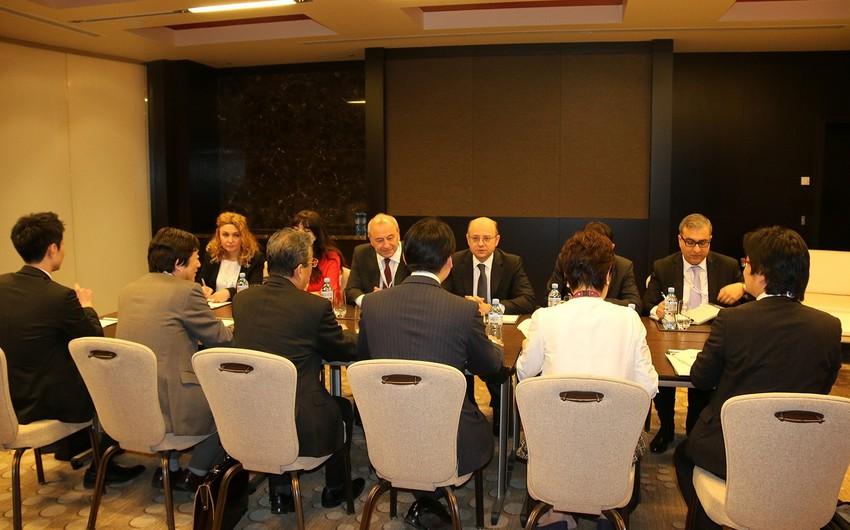 Energetika naziri Yaponiyanın iqtisadiyyat, ticarət və sənaye üzrə parlament nazirinin müavini ilə görüşüb