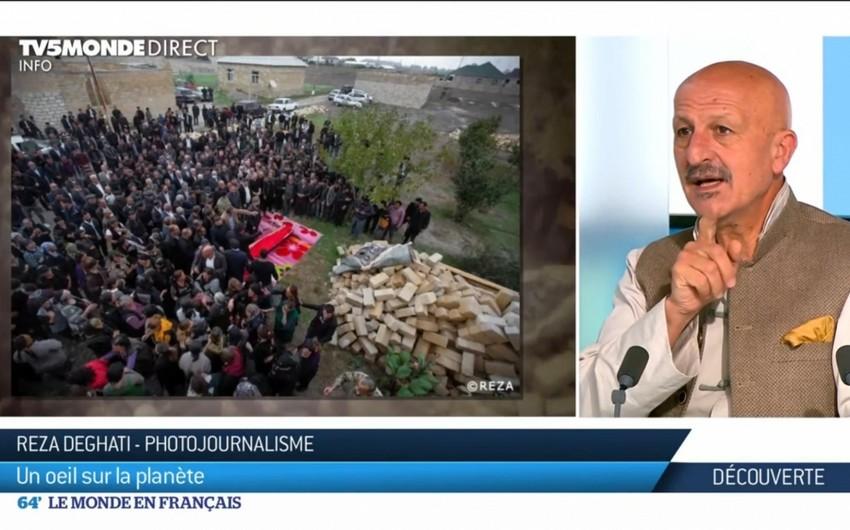 Reza Deqati Fransa kanalında Şuşanın tarixindən danışıb