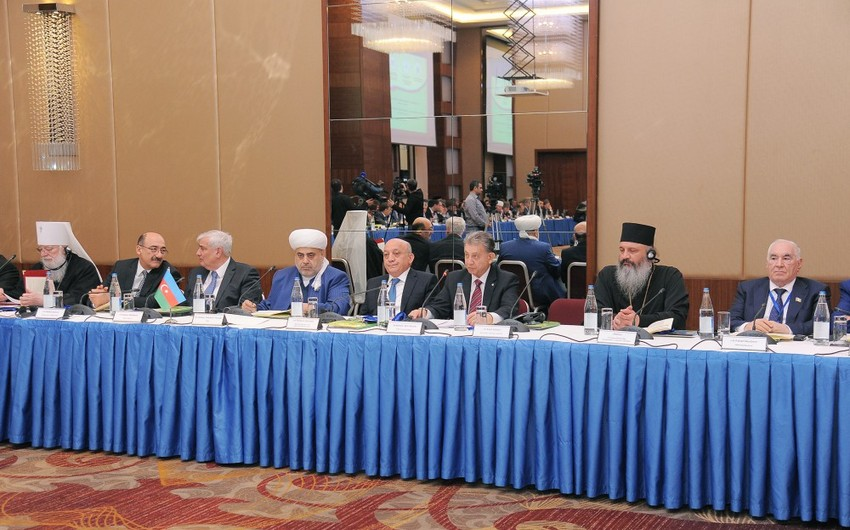 Bakıda keçirilən beynəlxalq konfransın iştirakçıları Prezident İlham Əliyevə müraciət ünvanlayıblar