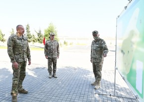 Ilham Aliyev visits new military camp of Air Force