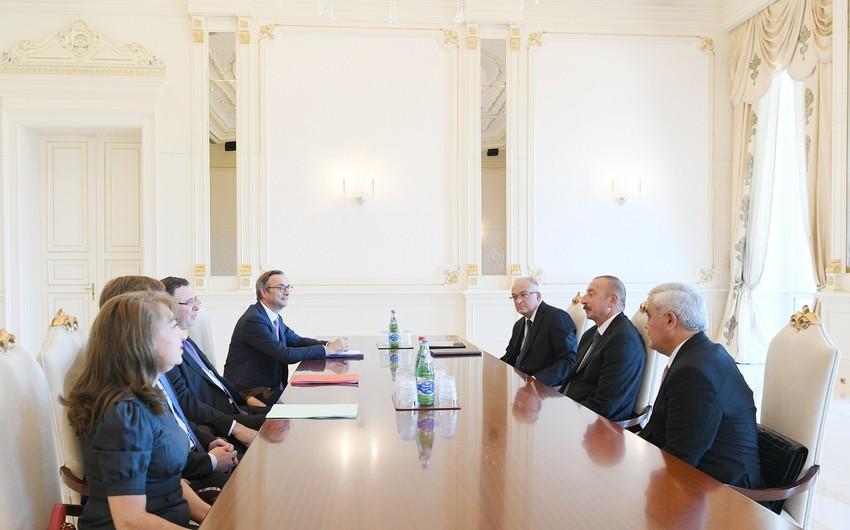 Prezident İlham Əliyev TOTAL şirkətinin baş icraçı direktorunu qəbul edib