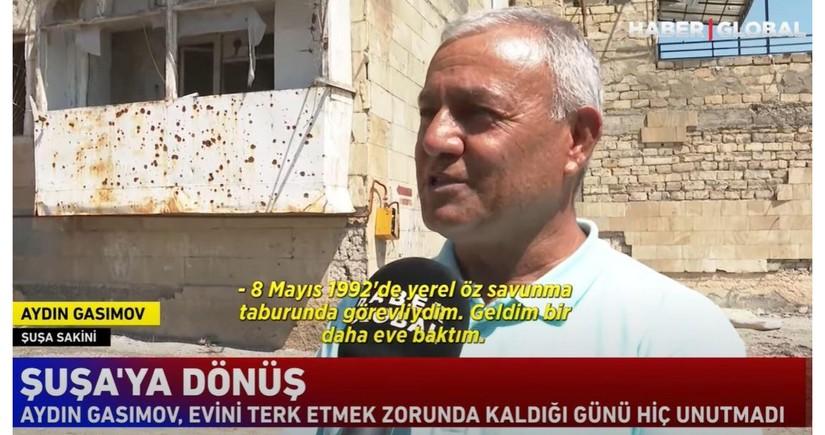 Haber Global: Shusha resident who returned home after 28 years saw only bare walls - VIDEO