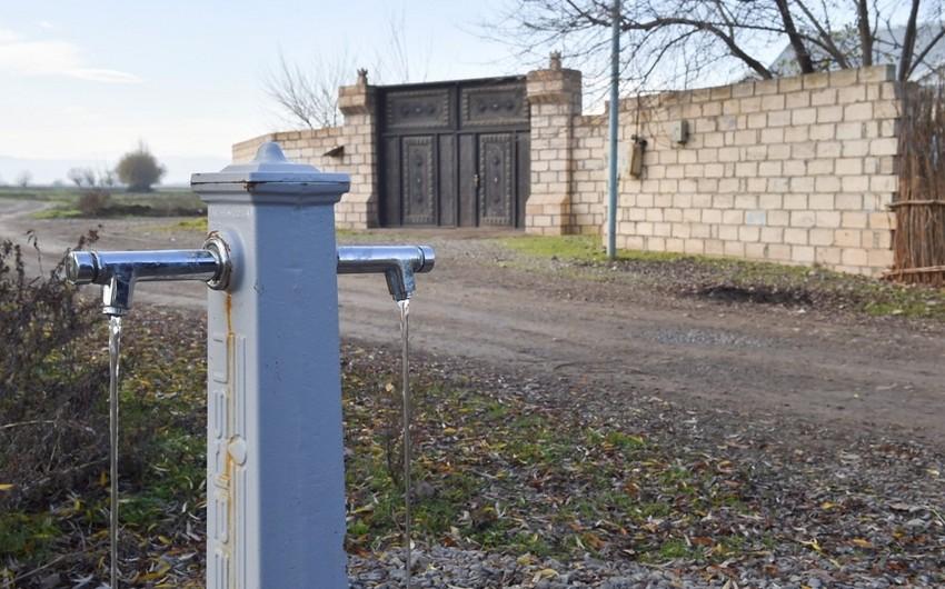 Ağdam rayonunun cəbhə bölgəsində yerləşən 2 kəndinin içməli su problemi həll edilib