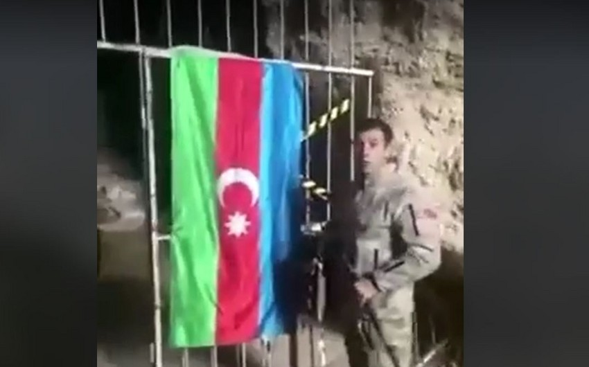 Azerbaijani soldier in Azykh Cave