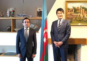 Посол Азербайджана обсудил сотрудничество с членом Палаты советников Японии