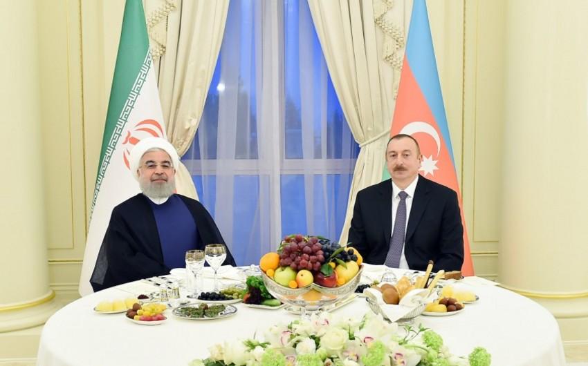 Bakıda İran Prezidentinin şərəfinə rəsmi qəbul təşkil edilib