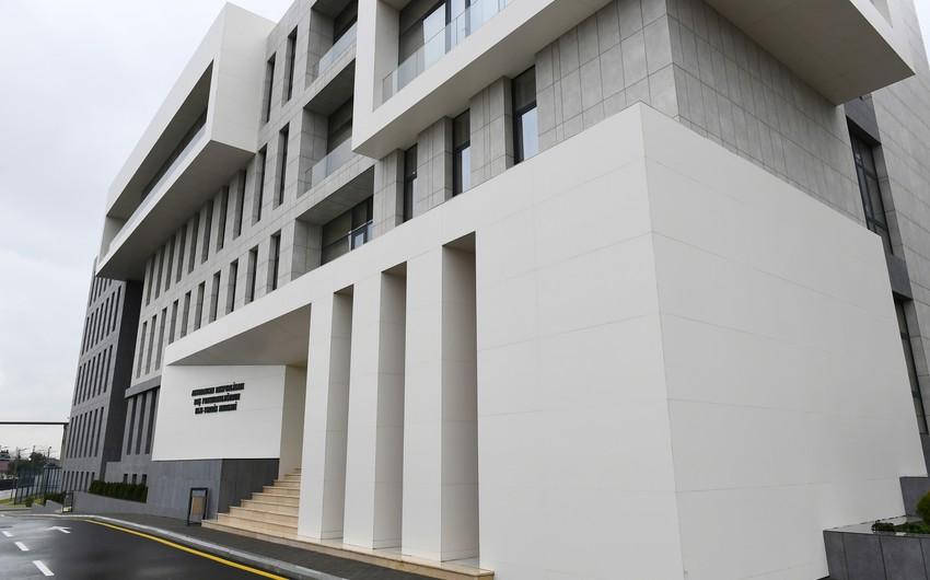 Baş Prokurorluğun yeni binasında6 idarə yerləşəcək, 13 dindirmə otağı yaradılıb