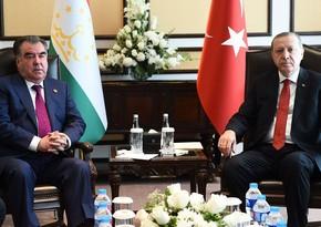 Эрдоган и Рахмон обсудили двусторонние отношения и региональные процессы