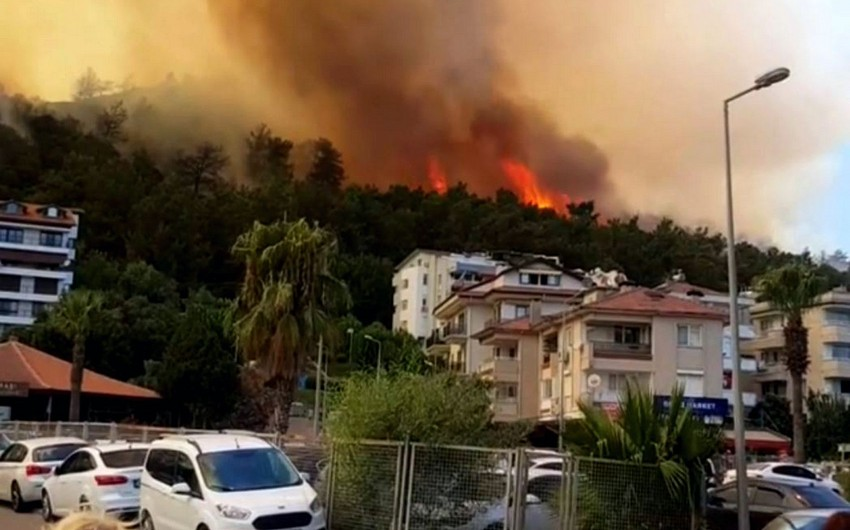 Hotel in Bodrum evacuated over forest fire