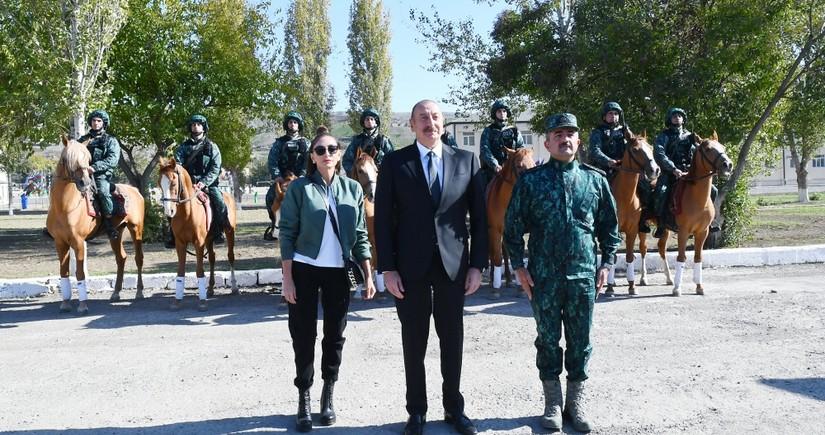Supreme Commander-in-Chief Ilham Aliyev inaugurates new military unit in Gubadli
