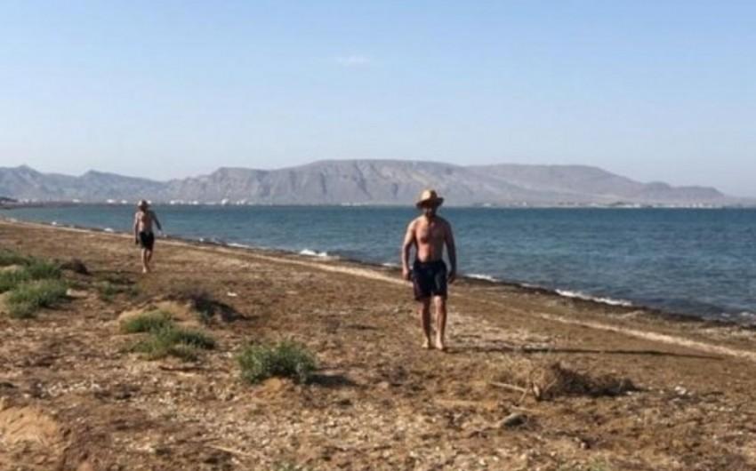 Полиция оштрафовала людей на пляже