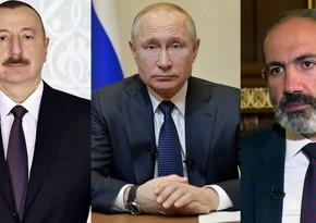 Azərbaycan, Rusiya və Ermənistan liderləri 10 noyabr bəyanatını müzakirə edəcək
