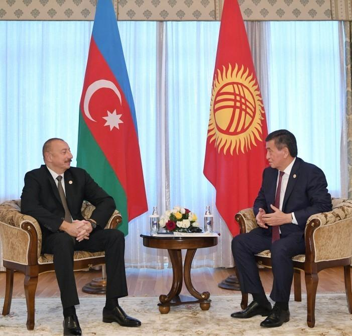 Prezident İlham Əliyevin Qırğızıstan Prezidenti Sooronbay Jeenbekov ilə görüşü olub