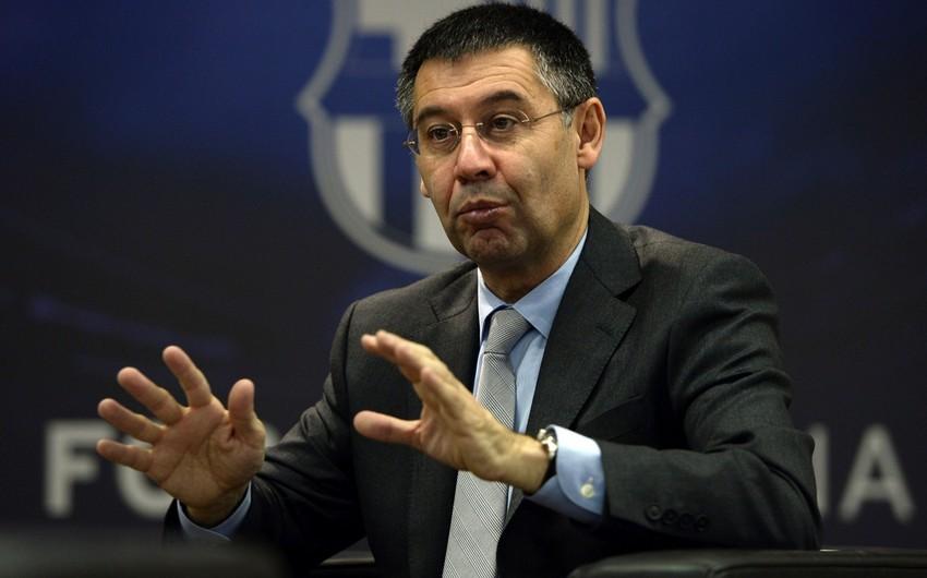 Президент Барселоны: лучший игрок мира  Месси, 2-й  Неймар, 3-й  Роналду