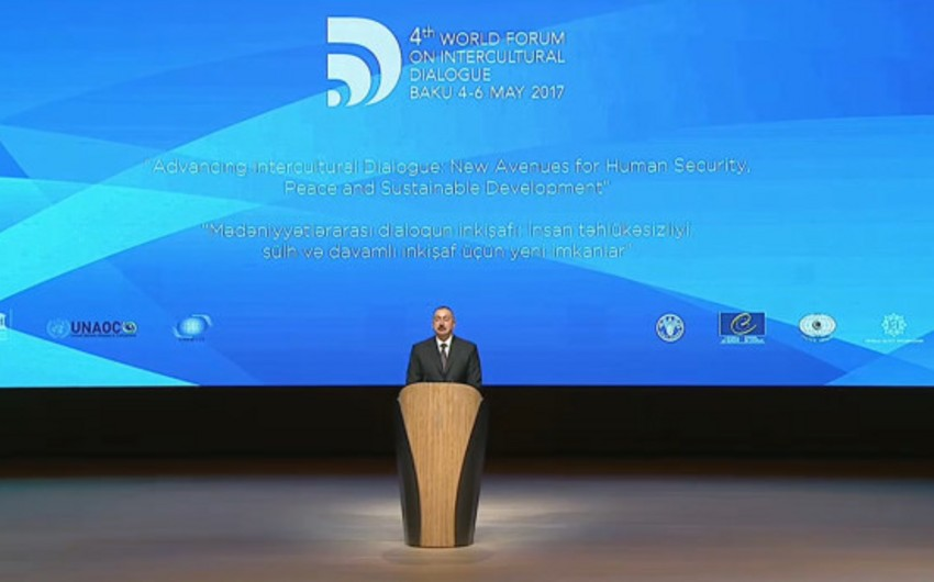Official ceremony opens the 4th World Forum on Intercultural Dialogue in Baku