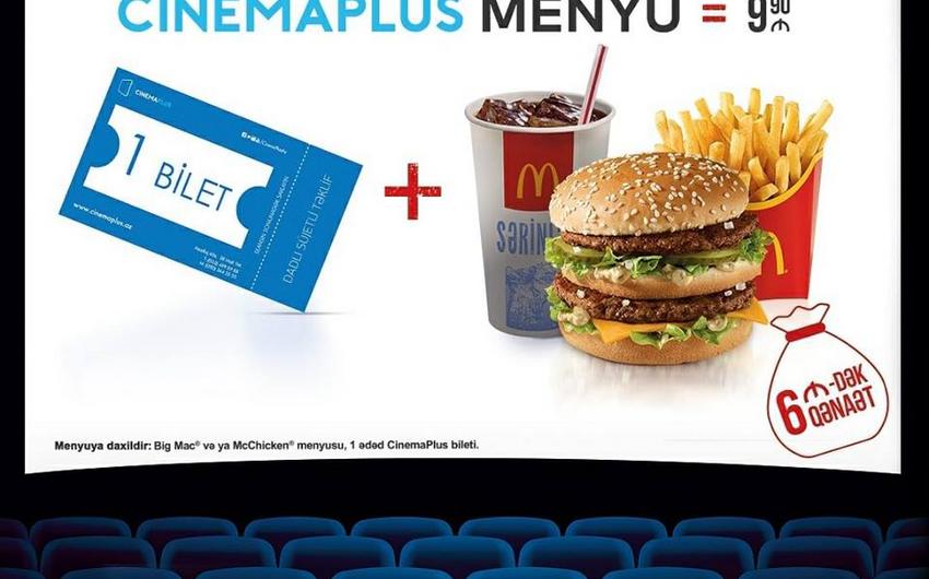 McDonald's Azərbaycan və CinemaPlus kinoteatrlar şəbəkəsi birgə aksiyaya başlayıb