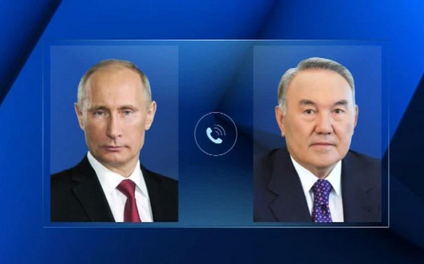 Vladimir Putin və Nursultan Nazarbayev Ermənistandakı vəziyyəti müzakirə ediblər