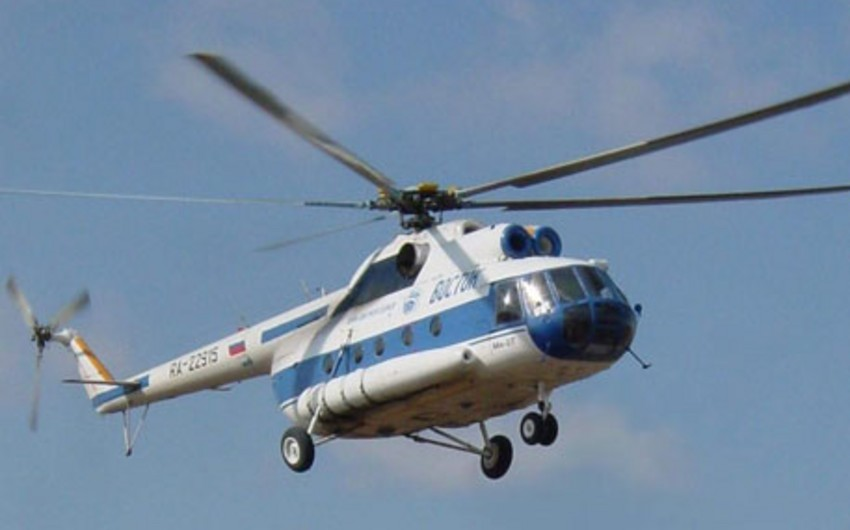 Rusiyada Mi-8 helikopteri qəzaya uğrayıb, bir nəfər ölüb, 6 nəfər xəsarət alıb