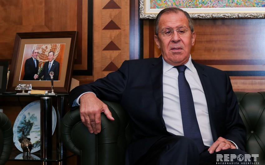 Sergey Lavrov: Dağlıq Qarabağ münaqişəsinin mövcudluğu heç kimi razı salmır