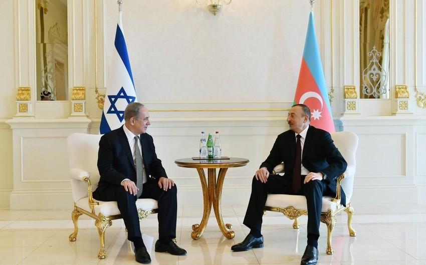 İsrailin baş naziri Azərbaycan Prezidenti ilə görüşəcək